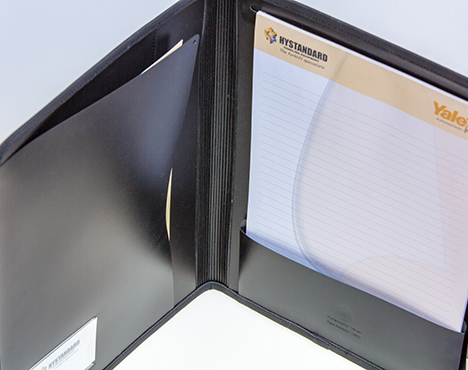 faux leather portfolio folders, springwood printing